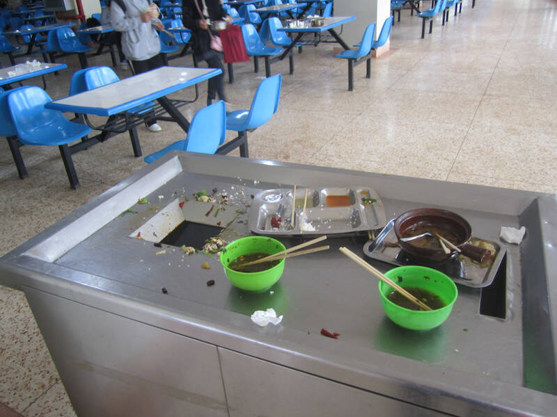 Canteen food at Chinese University